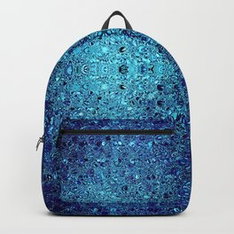 Deep blue glass mosaic Backpack