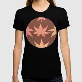 Fall Palmate Maple Pattern T-shirt