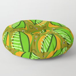 Abstract leaf pattern Floor Pillow