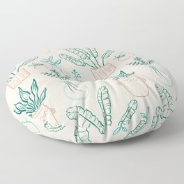 Plant Collection Floor Pillow
