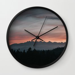 Mountainscape - Landscape and Nature Photography Wall Clock