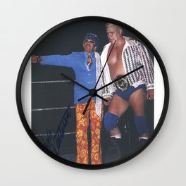 Pat Patterson Pierre Clermont Canadian American Wrestler Intercontinental Champion Wall Clock