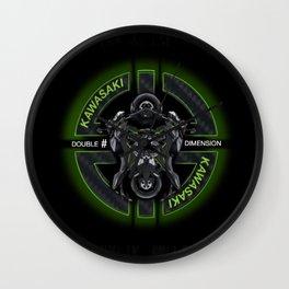 Kawasaki Paradox Double Time Wall Clock