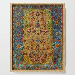 Hereke Vintage Persian Silk Rug Print Serving Tray