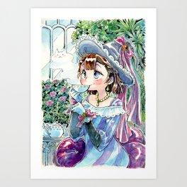 Tea witch Art Print