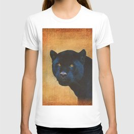 Black Jaguar in Portrait T-shirt