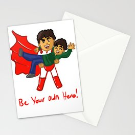 Be Your Own Hero Happy Cartoon Art Stationery Cards