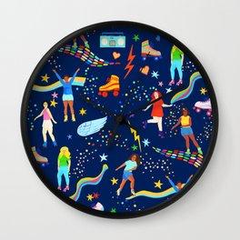 Roller Disco Girls Wall Clock