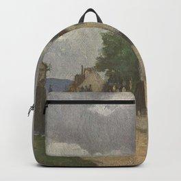 Camille Pissarro - Street in Pontoise (Rue de Gisors) Backpack