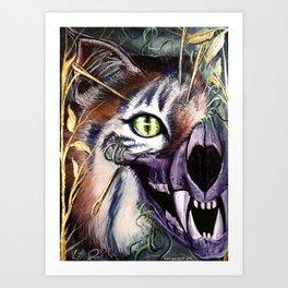 Bobcat Taxidermy Art Print