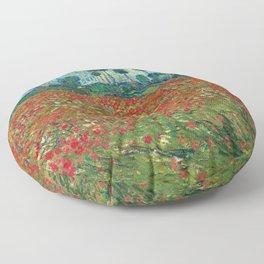 Poppy Field by Vincent Van Gogh, 1890 Floor Pillow