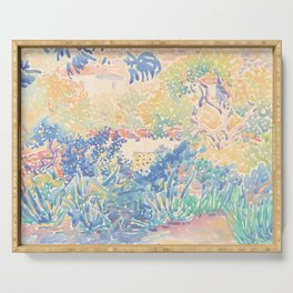 The Artist's Garden at Saint-Clair by Henri-Edmond Cross 1904-5, French Serving Tray