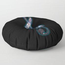 Cosmic Music Floor Pillow