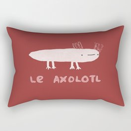 Le Axolotl Rectangular Pillow