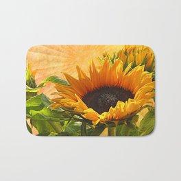 Good Morning Sunflower Bath Mat