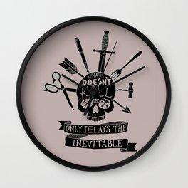 What Doesn't Kill Me - Black Wall Clock