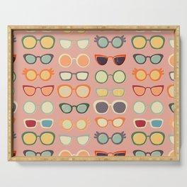Retro Glasses Serving Tray