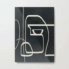 Abstract Line Movement 02 Metal Print