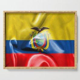 Ecuador Flag Serving Tray