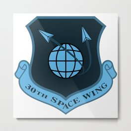 Space Force - Space Wing (Blue) Metal Print