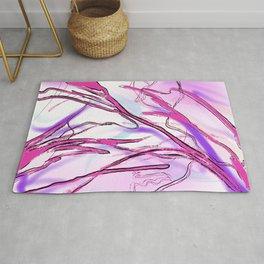 Pink Laces Rug