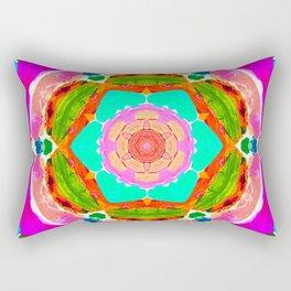 my rainbow heart mandala Rectangular Pillow
