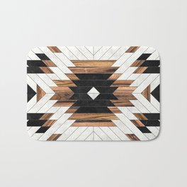 Urban Tribal Pattern No.5 - Aztec - Concrete and Wood Badematte