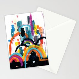 RAINBOW City Stationery Cards
