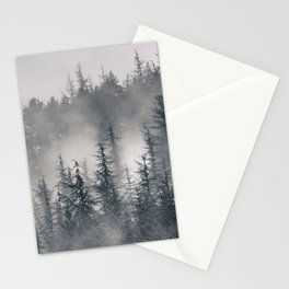 """""""Lost"""". Into the foggy mountains Stationery Cards"""