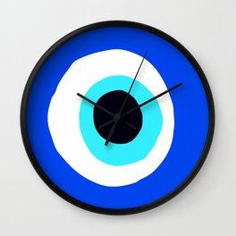Evil Eye Talisman Lucky Charm Wall Clock