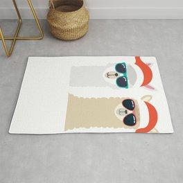 Merry Christmas Bro Gift For Llama Lover print Rug
