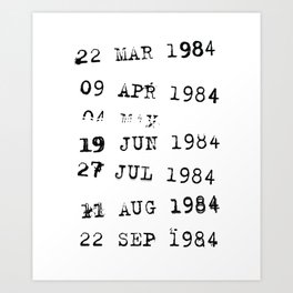 A library stamp Date Art Print