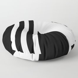 black and white pattern Floor Pillow