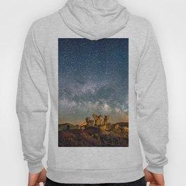 Panorama Bisti Badlands Hoodoos Under New Mexico Starry Night by OLena Art Hoody