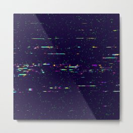 Grunge glitchy texture with tv screens Metal Print