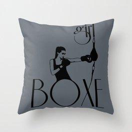 Girl boxe Throw Pillow