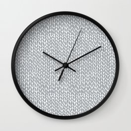 Hand Knit Light Grey Wall Clock