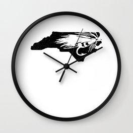 North Carolina Fly Fishing Hook River Wall Clock