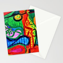 Pablo Picasso - Reclining woman and character - Digital Remastered Edition Stationery Cards
