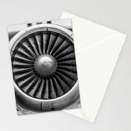Vintage Airplane Turbine Engine Black and White Photography / black and white photographs Stationery Cards