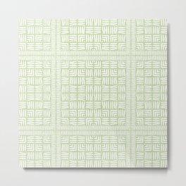 Nappy Faux Velvet Framed Weave in Pale Lime Green Reversed Metal Print
