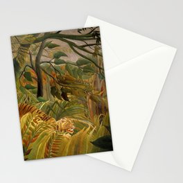 """Henri Rousseau """"Tiger in a Tropical Storm (Surprised!)"""" Stationery Cards"""