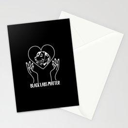 Black Labs Matter Labrador Retriever Dog Owner Stationery Cards