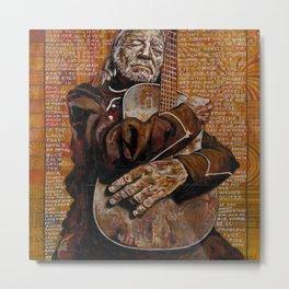 Willie's Guitar Metal Print