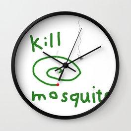 Kill mosquito Wall Clock