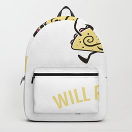 Will Run For Tacos Backpack