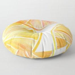 Sunny Citrus Floor Pillow