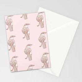 Kawaii Chalk-Browed Mockingbird Pattern Stationery Cards