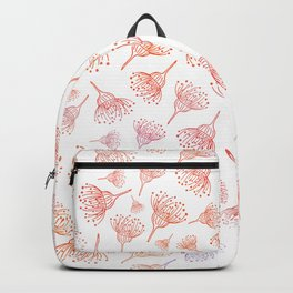 Cute Pink and Red Gumnuts Pattern Backpack