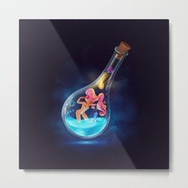 Creation in an Ampoule Metal Print